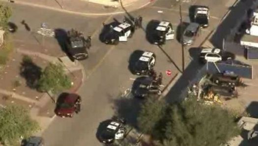 Close a polling station in California after a shootout that left two dead and two wounded