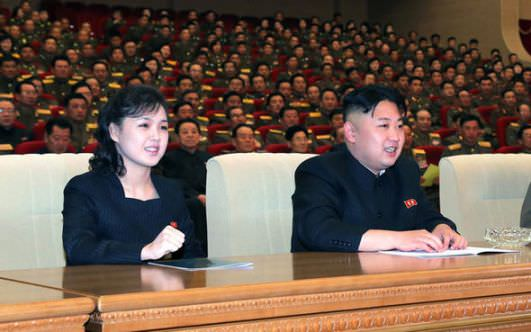 Kim Jong-un with wife