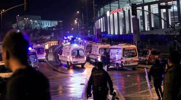 29 dead and 166 wounded in an attack to the near Turkish Besiktas Football Stadium