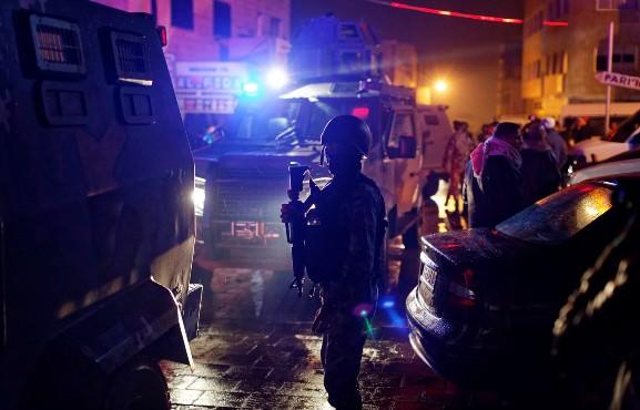 At least fourteen dead in a shootout in southern Jordan