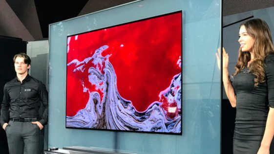LG committed for a television as thin as paper
