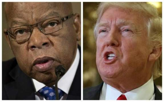 trump lashes out john lewis