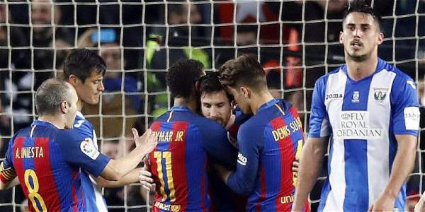 Barcelona rescued a dying victory with two goals from Lionel Messi