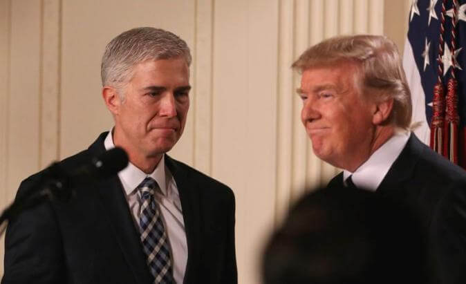 Trump selects Judge Neil Gorsuch as candidate for Supreme Court