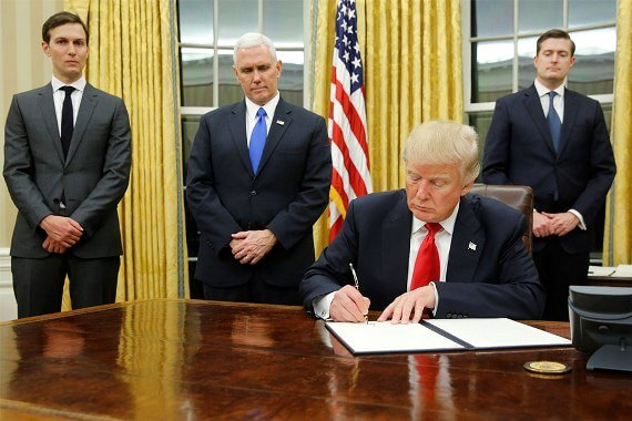 With changes, Donald Trump signed his new immigration decree