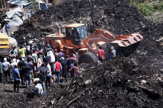 An avalanche of garbage killed more than 50 people in a garbage dump in Ethiopia