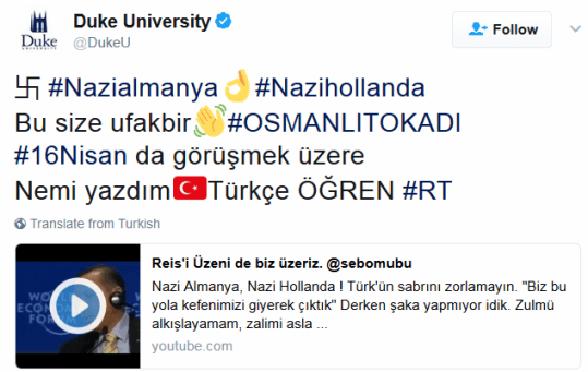 Twitter suffers a massive hack with messages in Turkish and Nazi symbols