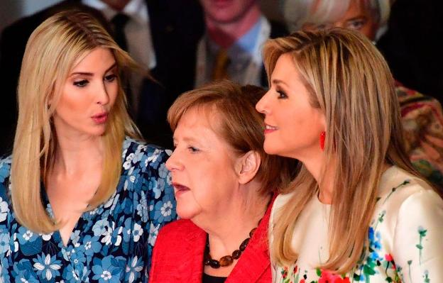 Merkel and Ivanka Trump, together for the inclusion of women in the economy