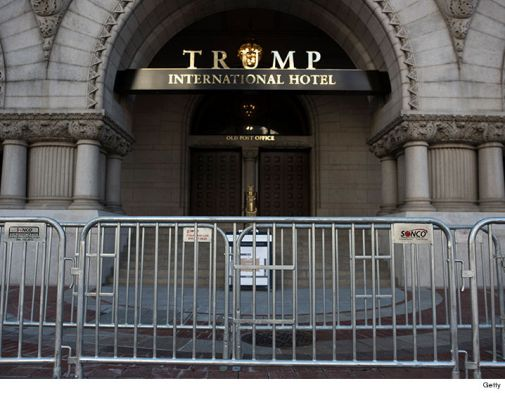 A man with two arms is arrested at a Donald Trump hotel