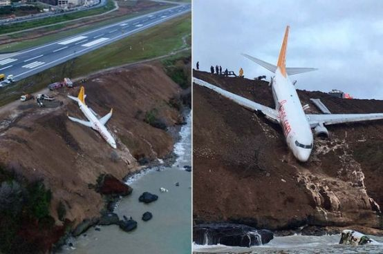 Turkish plane falls down with 162 passengers