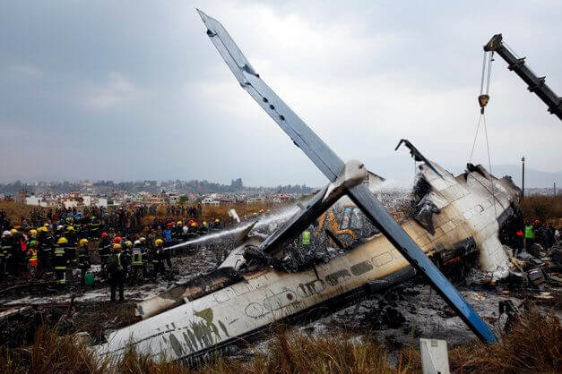 Dozens killed in a plane crash in Nepal when it was going to land