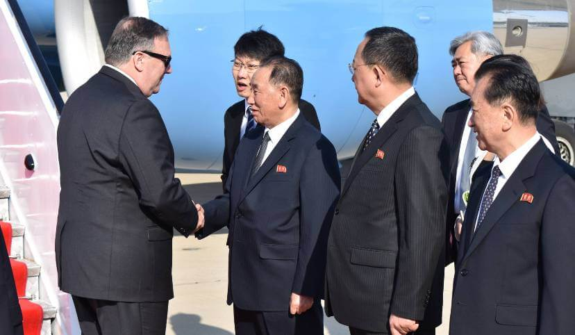 North Korea delivers the three American hostages to Pompeo