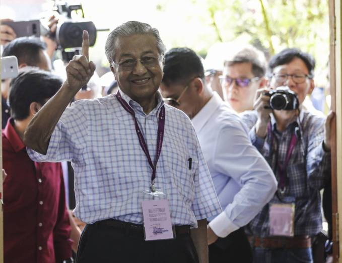 The opposition declared winner in the Malaysian elections